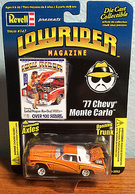 Revell 1/64 LOWRIDER Magazine '77 CHEVY MONTE CARLO w/ Positionable Axles