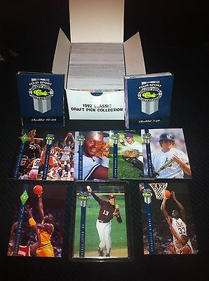 1992 Classic Four Sport Set Derek Jeter Shaquille O'Neal Pre-Rookie Cards RC