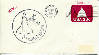 SPACE SHUTTLE CHALLENGER LAUNCH FEBUARY 3, 1984