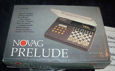 Novag Prelude Chess Computer / Electronic Chess Box Instructions