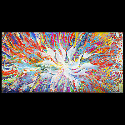 ORIGINAL ABSTRACT PAINTING CONTEMPORARY ART MODERN HUGE ....STRETCHED CANVAS ...