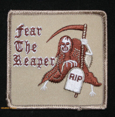 FEAR THE REAPER RIP HAT PATCH SKULL GRIM REAPER DEATH HEAVEN HELL PIN UP GIFT