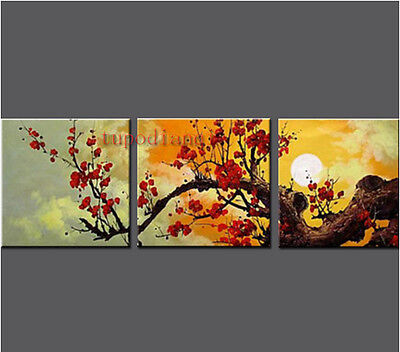 Canvas Oil painting Abstract Modern Art New decorate hang Plum flower NO framed