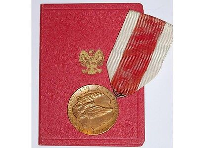 Poland Military Medal Merit National Defence Decoration Polish DIPLOMA post WW2