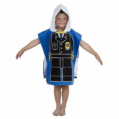 Lego City Heroes Hooded Poncho 100% Cotton Towel Police