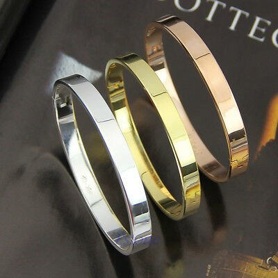 Fashion Bracelet Solid Stainless Steel Plain Polished Engravable Cuff Bangle