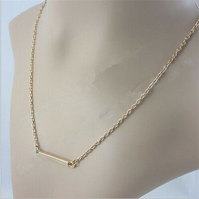Popular Cool Necklace Fashion Wild OL Horizontal Stick Bar Bone Pendant Necklace