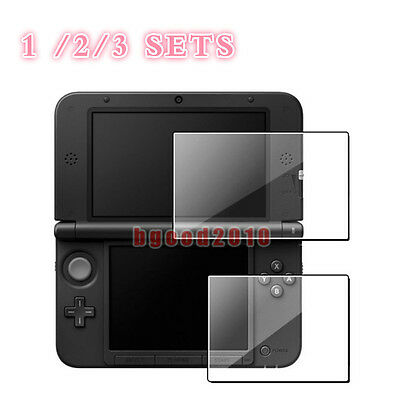 SET of Top+Bottom Clear Screen Protector LCD Guard Film for Nintendo 3DS XL LL