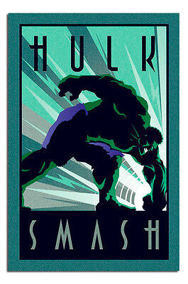 Marvel Hulk Art Deco Style Poster New - Maxi Size 36 x 24 Inch