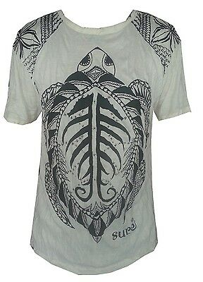 Yoga Men T Shirt turtle tortoise sea nature ocean  Peace Hobo Boho M RARE Sure