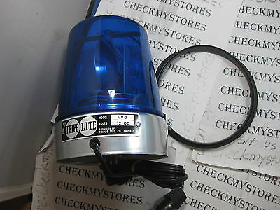 VINTAGE TRIPP LITE Mv-2 Signal Siren Beacon Light Mv2 Orange