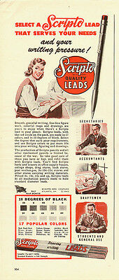 1944 Vintage ad for Scripto Quality Lead/mechanical pencils (083113)