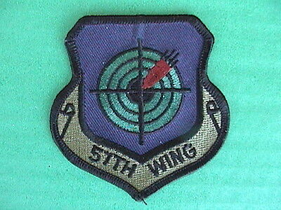PATCH US MILITARY USAF 57th WING Air Force NEW