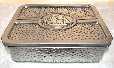 1990 Old Spice Classic Nautical Ship Hammered Cologne Empty Tin Made in England