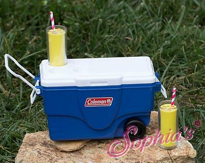"Coleman® Cooler w/Lemonade in /Blue fit 18"" American Girl Doll"