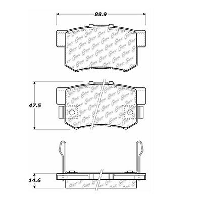 Disc Brake Pad-Posi-Quiet Extended Wear w/Shims & HrdWr Rear Centric 106.05360