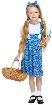 Girls Dorothy Wizard of Oz TV Film Book Day Fancy Dress Costume Outfit 4-12 yrs