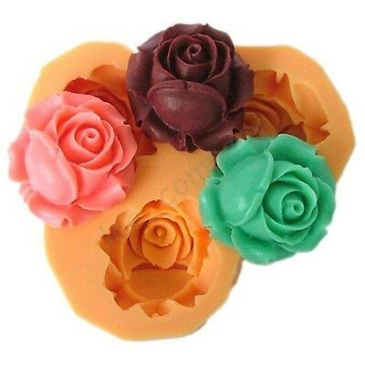 Rose Flower Silicone Mould Wedding Party Clay Cake Decorating Fondant Chocolate