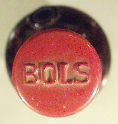 BOTTLE IN miNatura OF BOLS , CLEAR , VERY OLD