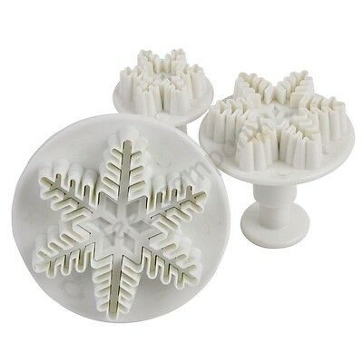 Snowflake Flower Fondant Cake Plunger Cutter Craft Mold Modeling Decorating