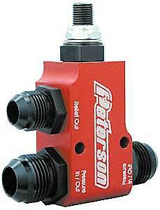 Peterson Fluid Systems 09-0161 Remote Relief Valve -12AN Inlet and Outlet