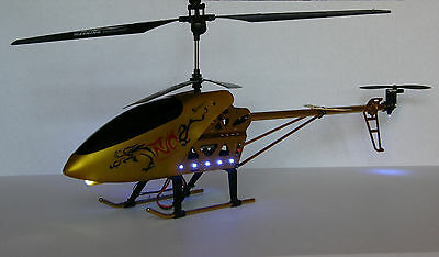 Brand New 30 Inch Big Size 3.5CH RC Outdoor Helicopter with Gyro, Color Gold