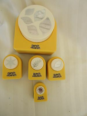 Lot of 1 Large, 4 Small Punch Bunch Crafting Paper Punches