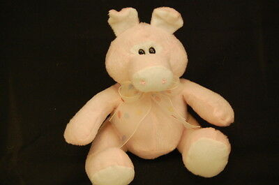 "Pink Pig Circus Circus Las Vegas  Reno Lovey Toy 6"" Sitting Plush Stuffed Animal"