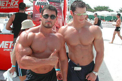Shirtless Male Muscle Hunks Body Builders Huge Arms Chest PHOTO 4X6 Pinup P859