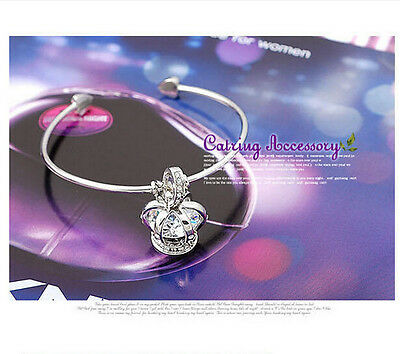 Fashion Bracelets For Girl Lady's Women Honor Crown Design Silver