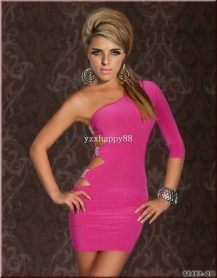 Fashion new sexy women elegant party Clubwear underwear dress set C11pink M