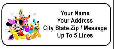 30 Mickey Minnie Disney Pals Personalized Address Labels