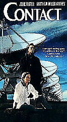 Contact (VHS, 1997) Jodie Foster, Matthew McConaughey  **Very Good