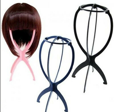 Unique Hair Hat Cap Holder Folding Plastic Stable Durable Wig Stand Display FT8