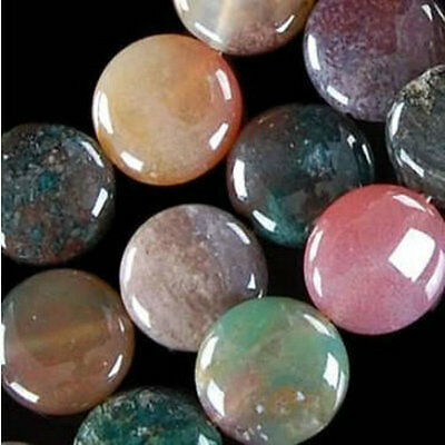 """12mm India Agate Onyx Coin Loose Beads Gemstones 15"""""""