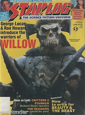 Starlog Issue 131 Next Gen Willow Starman Critters Beauty & Beast Invaders