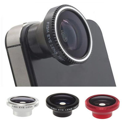 New Magnetic Wide 180°Detachable Fish Eye Lens for iPhone4 4G 4S CellPhone Black