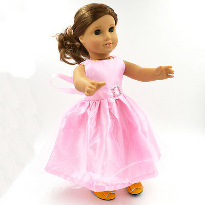 "2015 New American Girl Hot Handmade Dress Skirt 18""Doll Clothes Pink"