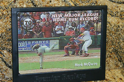 PREMIER REPLAYS MARK MCGUIRE SINGLE SEASON HR RECORD MLB BASEBALL HR RECORD