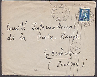 ITALY: Cover to Red Cross Geneva (POW info to reverse?) + 1943 Milan franks