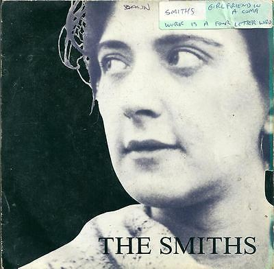 """The Smiths - Girlfriend In A Coma - 7"""" Vinyl Picture Sleeve 1987 Rough Trade"""