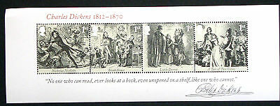GB SG MS3336 QUEEN ELIZABETH 2 CHARLES DICKENS MINIATURE SHEET - UNMOUNTED MINT