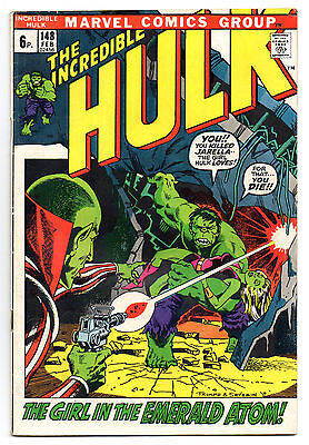 Incredible Hulk Vol 1 No 148 Feb 1972 (FN-)Marvel Comics,Bronze Age(1970 - 1979)