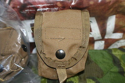 2 COYOTE BROWN MOLLE II HAND GRENADE POUCHES NEW IN PACKAGE USGI ISSUE GENUINE
