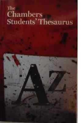 The Chambers Studenten' Thesaurus___BRANDNEU__Werbeantwort UK