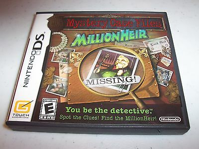 Mystery Case Files: MillionHeir (Nintendo DS) Complete