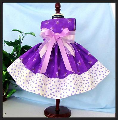 PURPLE TEENY BUTTERFLIES   Fits American Girl 18 inch Doll Clothes  Dress