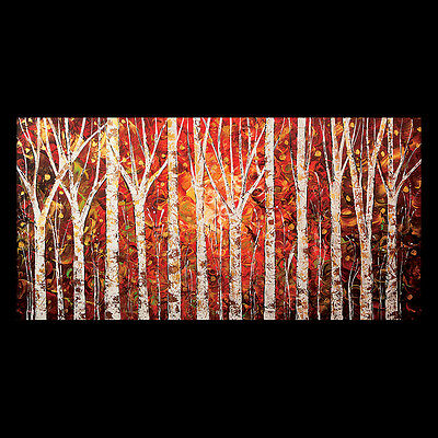 Trees Landscape - CUSTOM PAINTING - Abstract Modern - Commissioned Art by Doria-