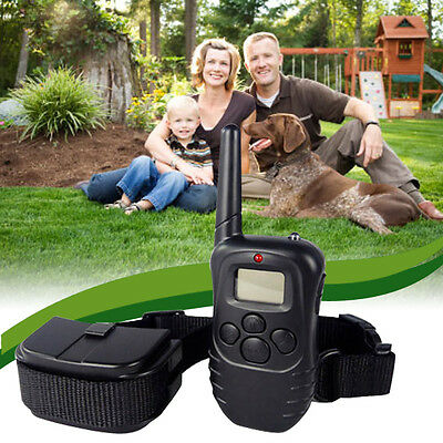 New 300m LCD 100LV Level Shock Vibra Remote Pet Dog Training Collar for One Dog