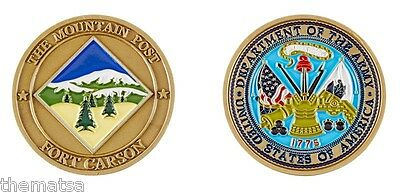 ARMY FORT CARSON The Mountain Post Challenge Coin